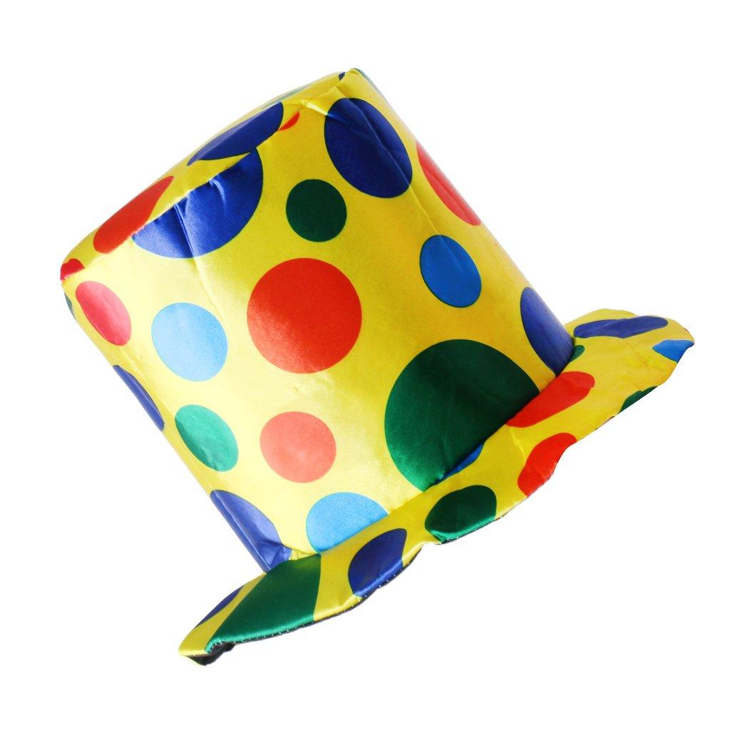 Jili Online Adult Woman Man Polka Dot Top Hat Clown Circus Halloween Fancy Dress Accessory Birthday Party Supplies Halloween Carnival