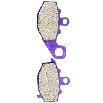 CCIYU Rear Carbon Fiber Brake Pads Motorcycle Motorbike Replacement Brake Pads Fit 1993-2014 Kawasaki: Automotive