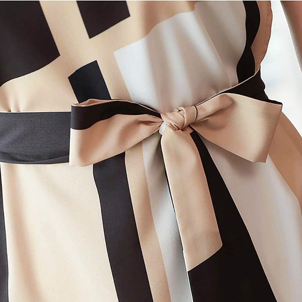 Gofodn Dresses for Women Plus Size Evening Elegant Short Sleeve Mini Knee Length Business Dress