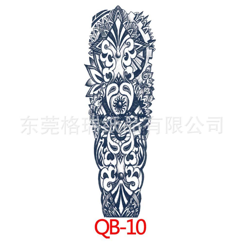 Handaxian Personalidad Moda Brazo Completo Tatuaje Impermeable ...