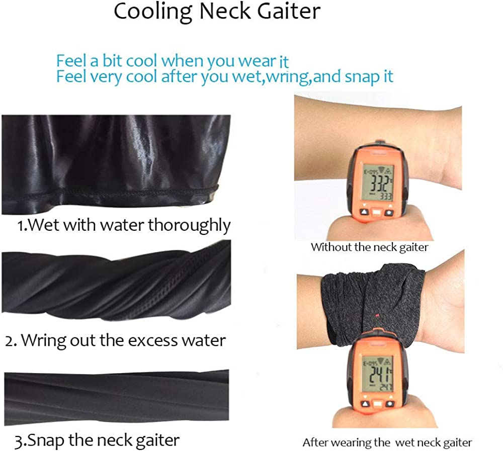 Cooling Neck Gaiter//Face Scarf//Summer Neck Cover//Face Cover for Sun Hot Summer Cycling Hiking Fishing