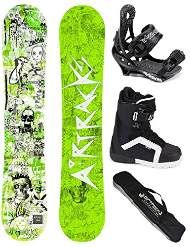 AIRTRACKS SNOWBOARD SET - WIDE BOARD DREAMCATCHER 150 - SOFTBINDUNG SAVAGE - SOFTBOOTS STRONG 39 - SB BAG
