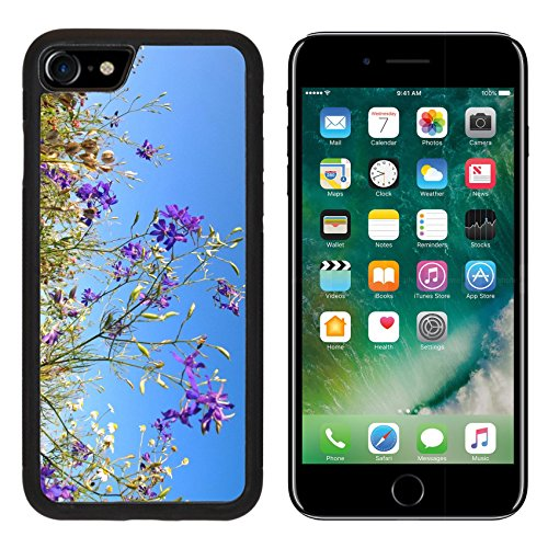 MSD Premium Apple iPhone 7 Aluminum Backplate Bumper Snap Case iPhone7 wild flowers on the background of sky IMAGE (Flower Backplate)