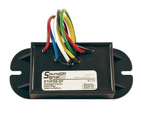 amazon com soundoff signal select a pattern solid state flasher rh amazon com soundoff signal headlight flasher wiring diagram soundoff signal flashback wiring