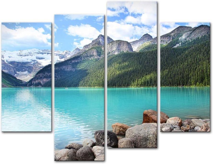 Beautiful Lake Mountains landscape High Quality Canvas home wall art /& Decor