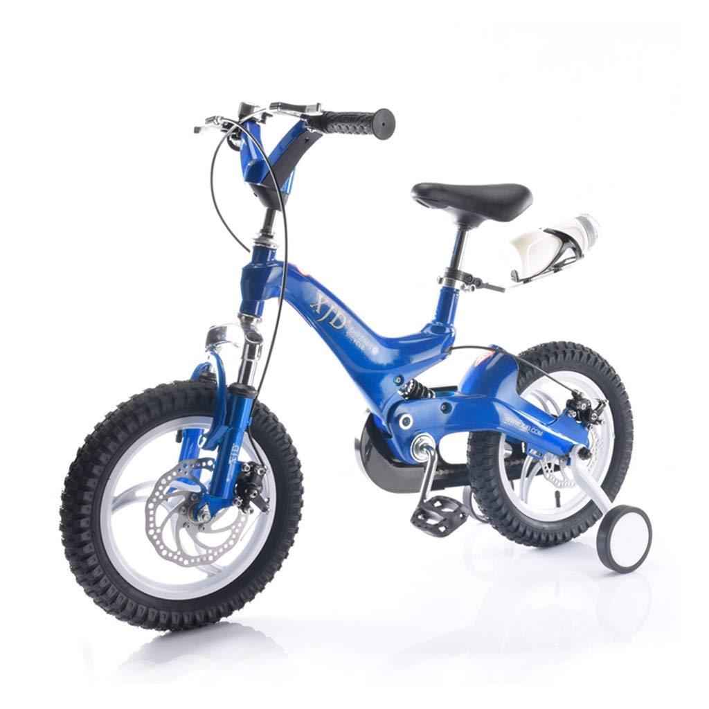 子供用 自転車 3-6歳 子供用 自転車 14 16インチ バイク 男の子 自転車 女の子 バイク マグネシウム合金 マウンテンバイク アウトドア スポーツ バイク 子供 ギフト 14inches ブルー B07P25PH4S