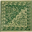 Patina M712 Persian Outdoor Rug, Garden Green 4 Feet by 4 Feet (Discontinued by Manufacturer)