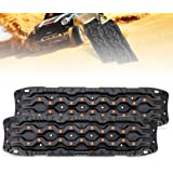 FieryRed Traction Boards - 2 Pcs Traction Mat Recovery for Sand Mud Snow Track Tire Ladder 4X4 - Traction Tracks, Size…
