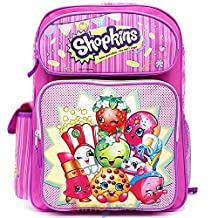 "Shopkins Large School Backpack 16"" Girls Book Bag"