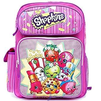 "Amazon.com | Shopkins Large School Backpack 16"" Girls Book"