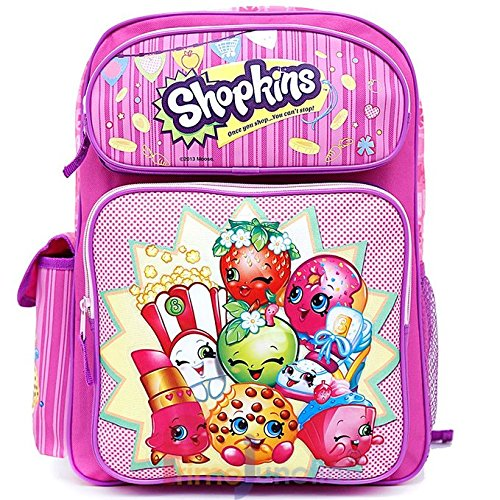 Shopkins Large School Backpack Girls