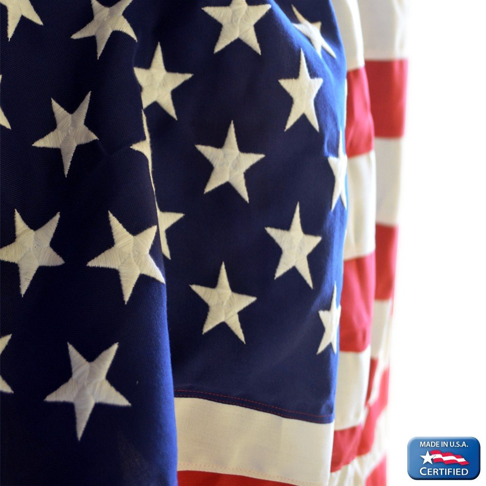 Annin Flagmakers Model 2720 American Flag Tough-Tex the Strongest, Longest Lasting 4x6 ft. 100% Made in USA with Sewn Stripes, Embroidered Stars and Brass Grommets by Annin Flagmakers (Image #7)