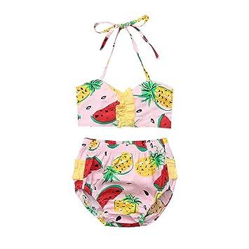 ded9cd03c1 only storerine Maillot de Bain Enfant imprimé Ananas + Bikini Court ...