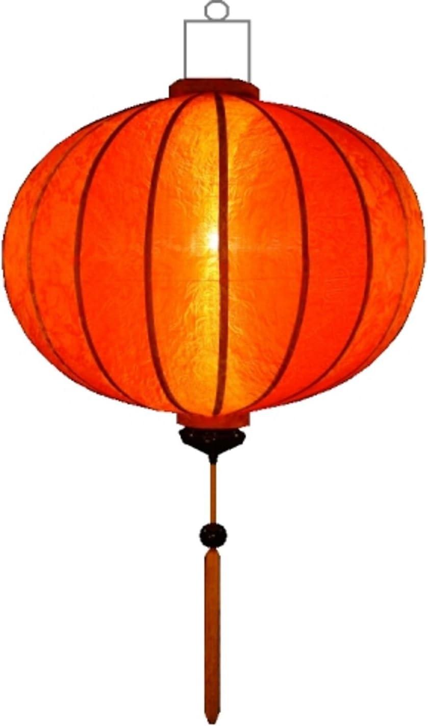 Asiatische Laterne Lampion Rund Orange by Lampionsenzo