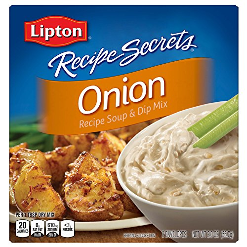 Lipton Recipe Secrets Soup and Dip Mix, Onion Flavor, 2 oz 6 Count