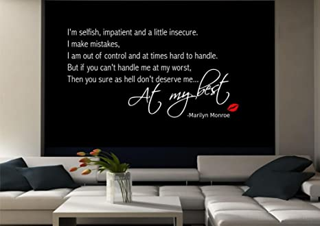 Amazon.com: Marilyn Monroe Wall Quote Sticker Decal Mural ...