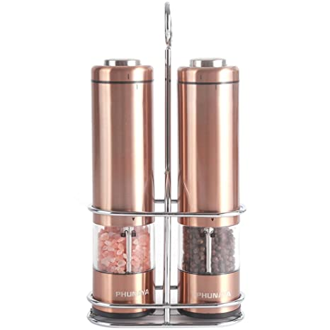 Amazoncom Phunaya Electric Salt And Pepper Grinder Set With