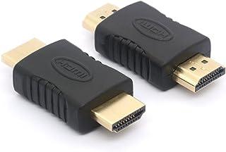 coupleur HDMI, HDMI mâle vers HDMI male Straight In-Line Coupler adaptateur 19broches Connecteur HDMI pour HDTV (2-Pack)