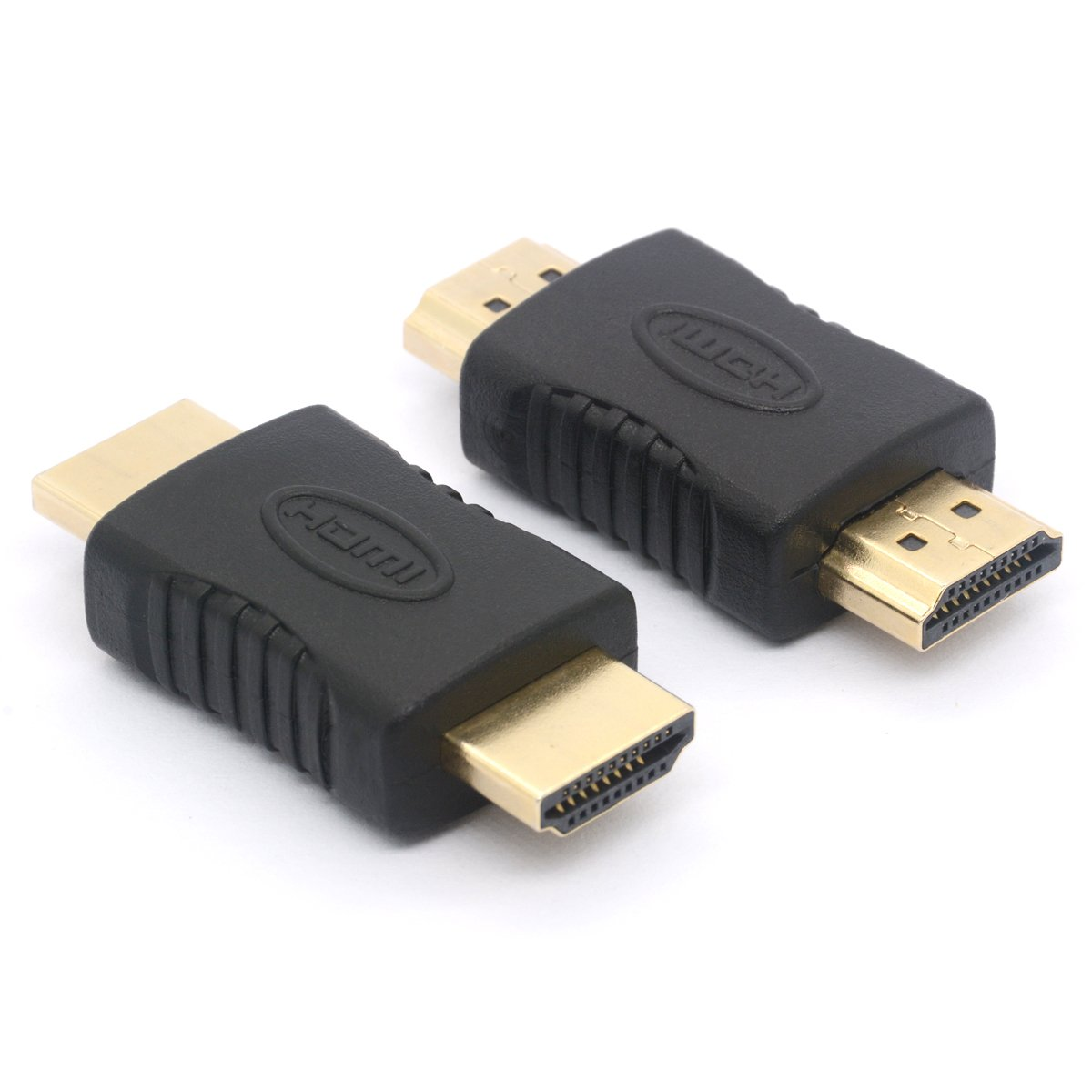 HDMI Coupler 2-Pack HDMI Male to HDMI Male Straight In-line Coupler Adapter 19 Pin HDMI Connector for HDTV