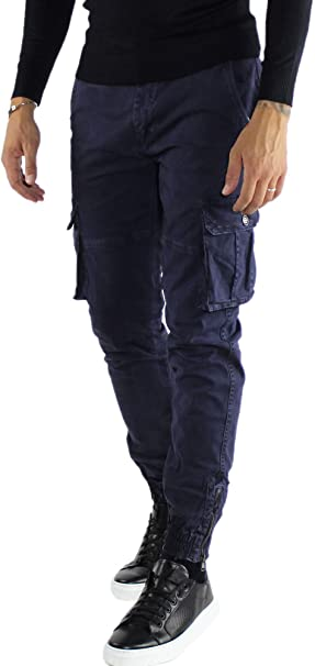 mostarda modalità otturatore  Pantaloni Uomo Cargo Invernali con Tasche Laterali Elastico alle Caviglie  Verde Blu Grigio Beige: Amazon.it: Abbigliamento
