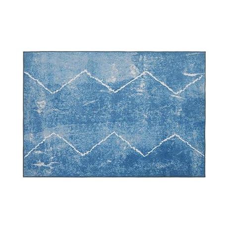 Teteras Poliéster Fresco 1.4x2 m Alfombra nórdica Azul Diseñador de diseñador Máquina Lavable Simple Espesor