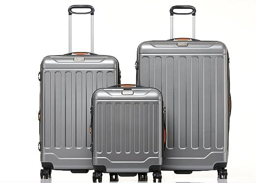 5f76406988 Jeep Luggage Canyon 3 Piece Sets (Silver): Amazon.co.uk: Clothing