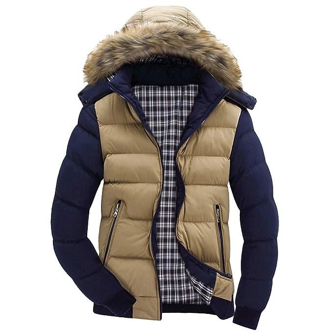 Luoluoluo Abrigos Hombre Invierno Larga Elegante Abrigo con Cremallera Chaqueta Suéter con Capucha Abrigo otoño e