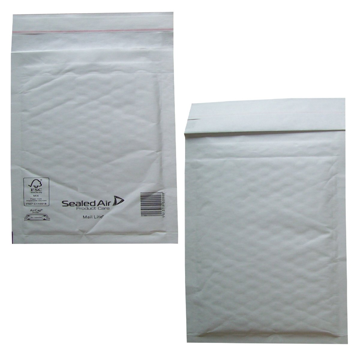 50 Large K/7 Size Mail Lite White Padded Envelopes Mailers - Peel + Seal Bubble Bags - 350 x 470mm / 13.75 x 18.5' Sealed Air Postal Packing Mailing Shipping Postage Posting Self Seal Cushioned Protective Packaging
