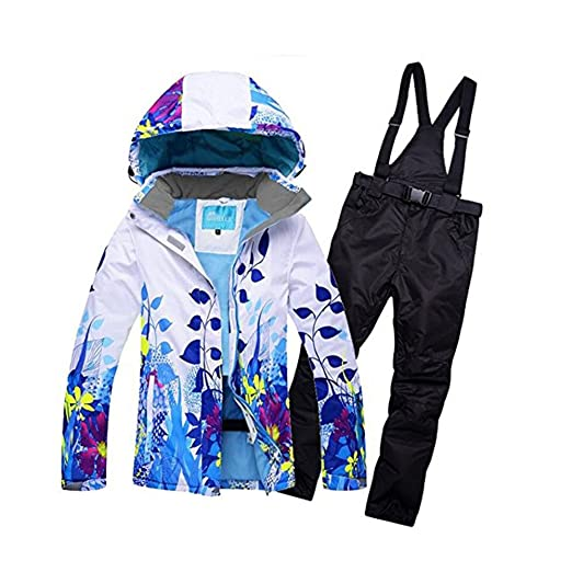 933d3451af Image Unavailable. Image not available for. Color  Women s Windproof and Waterproof  Snowboard Colorful Ski Jacket and Pants Set