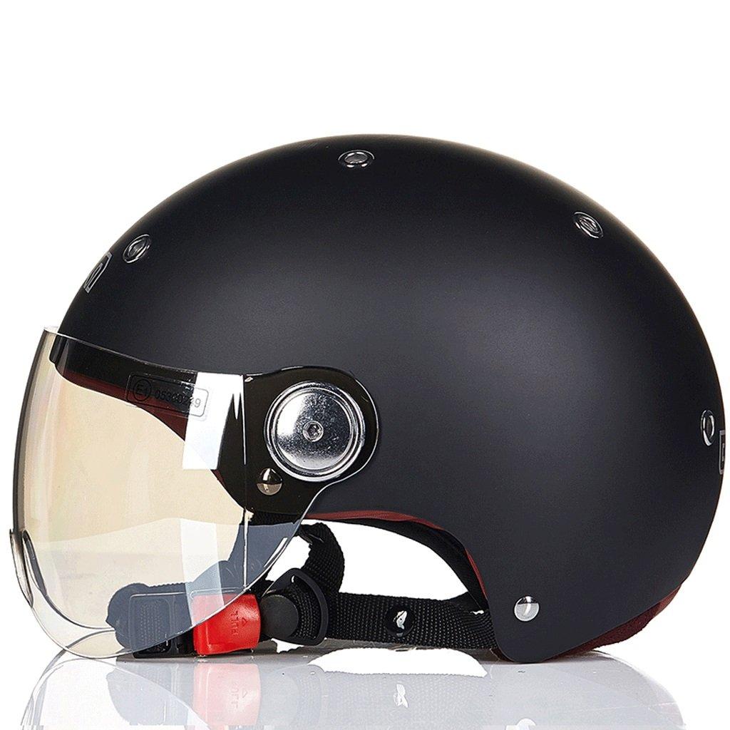 DGF ヘルメット電動バイクスケート安全セミカバー春夏軽量レトロ男性と女性スポーツアンチコリジョンヘルメットマルチカラー通気性 (色 : G g, サイズ さいず : XL) B07FW2PBN9 X-Large|G g G g X-Large