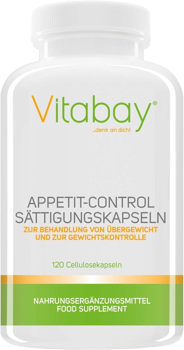 Complemento alimenticio para Controlar el apetito – 120 cápsulas de celulosa
