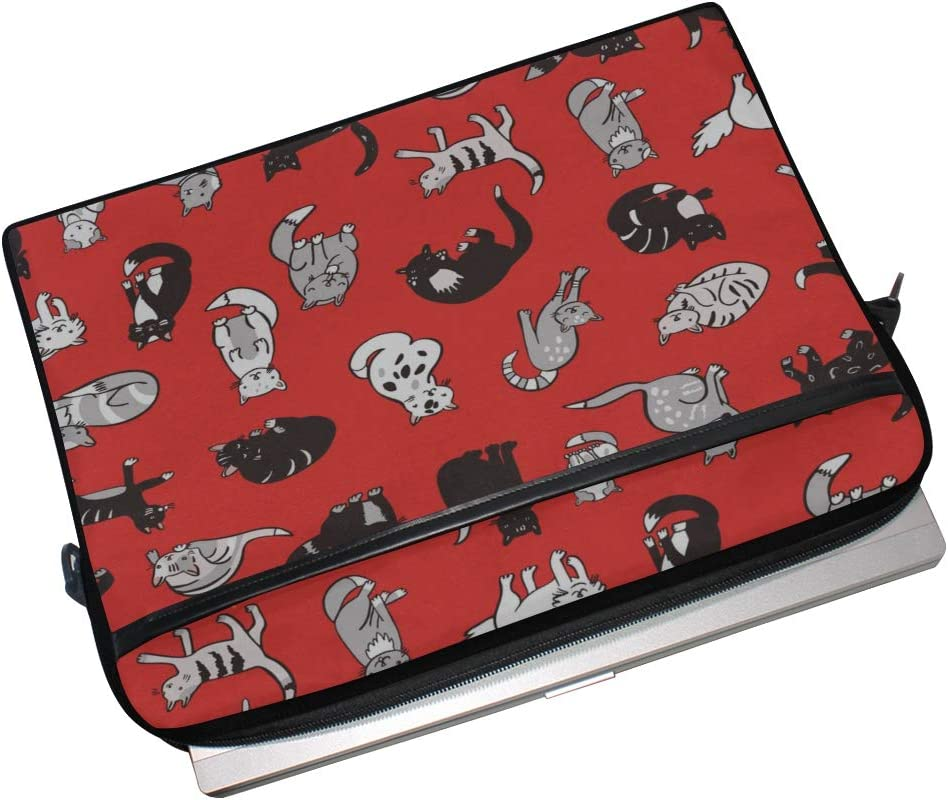 Laptop Bag Cats Pattern 15-15.4 Inch Laptop Case College Students Business People Office Workers Briefcase Messenger Shoulder Bag for Men Women