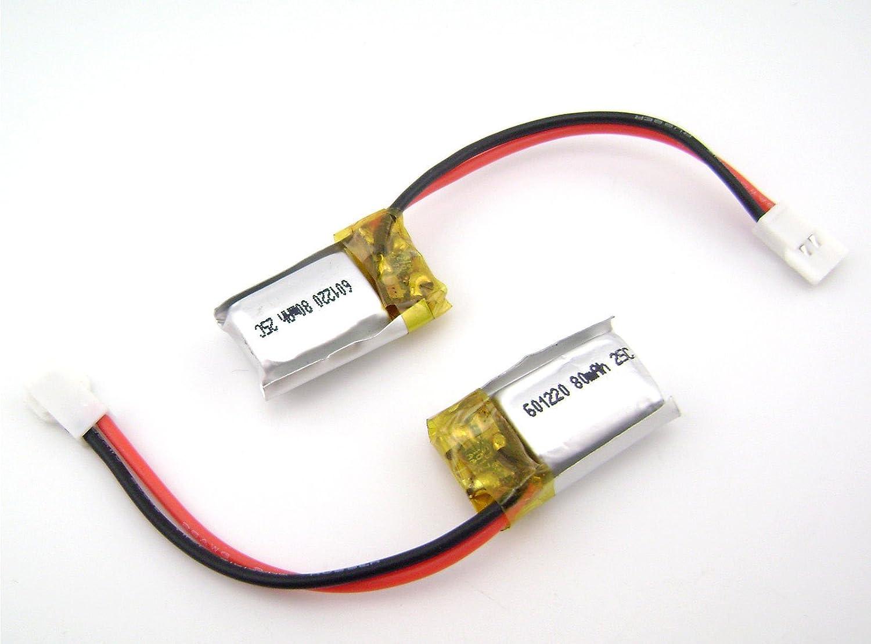 100個601220 3.7 V 80 mA 25 C Lipoバッテリーfor Bluetooth LEDライト電源 B0714DDMVY