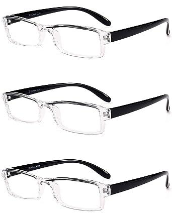 3f3014a7327 VEVEMUNDO Reading Glasses Men Women Modern Transparent Spectacles Optics Eyeglasses  Eyewear Black Red Blue Temple 1.0 1.5 2.0 2.5 3.0 3.5 4.0  Amazon.co.uk  ...