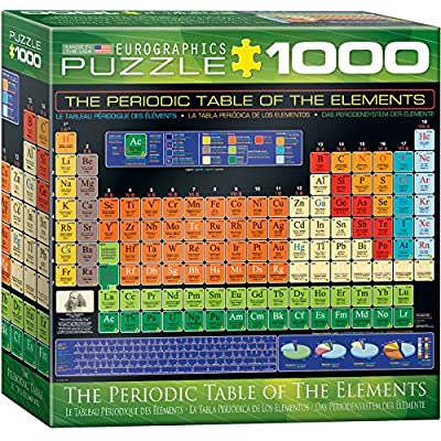 EuroGraphics Small Box Periodic Table of Elements Puzzle (1000 Piece): Toys & Games