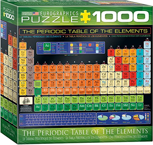 EuroGraphics Small Box Periodic Table of Elements Puzzle (1000 Piece)