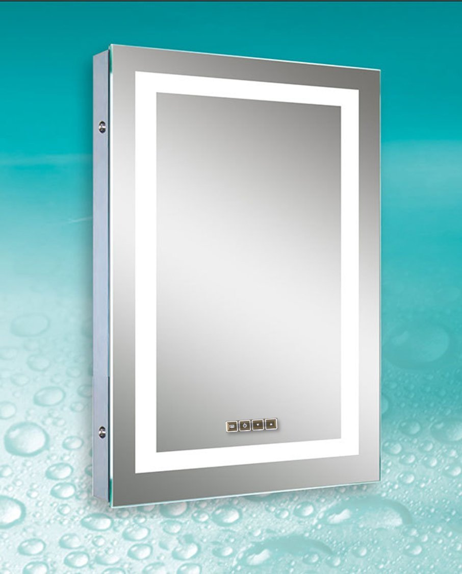 Dimmable LED Bordered Illuminated Mirror