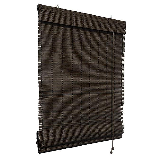 Victoria M. Persiana Enrollable de bambú - fijación sin taladrar (Klemmfix) - Estor de bambú - 70 x 220 cm, Color marrón Oscuro: Amazon.es: Hogar