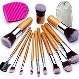 BEAKEY Makeup Brush Set, Bamboo Handle Premium...