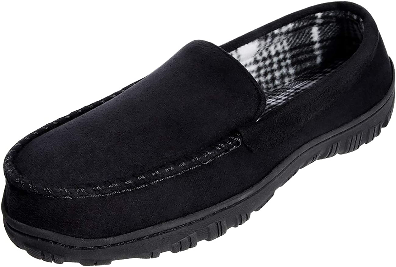 MIXIN Mens Comfy House Memory Foam Moccasin Loafers and Slip on Slippers Non Slip Shoes for Men Casual Indoor