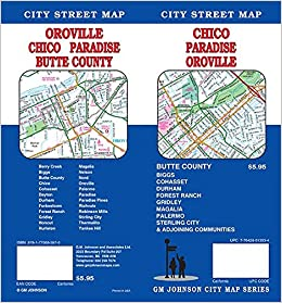 California Map Oroville.Chico Oroville Paradise Butte County California Street Map