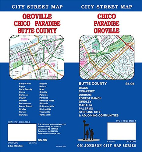 Chico / Oroville / Paradise / Butte County, California Street Map