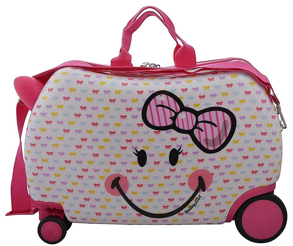 Smiley Emoji Kids CarryOn Luggage 20'' Ride-On Suitcase - Silly Smiley Cutie Face (Cutie Smiley)