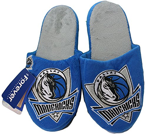 NBA Dallas Mavericks Men's Team Logo Slippers Blue (Large 11-12) by NBA