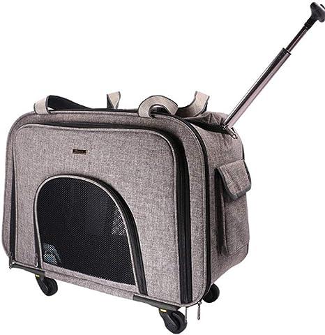 YEC Safe Pet Bag Estuche para Carrito para Mascotas Bolsa para Carrito para Perros, Rueda de Silencio, Maleta portátil para Gatos y Perros (58 * 38 * 32 cm) Bicicletas para Mascotas: