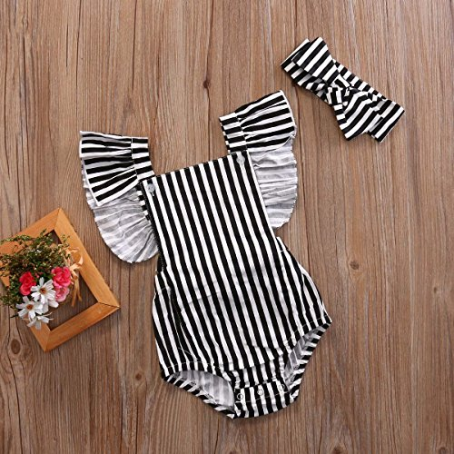Button Romper Clothes Bodysuit Emmababy Jumpsuit Baby Black Outfits Stripes Girls' ZUYcTAq4