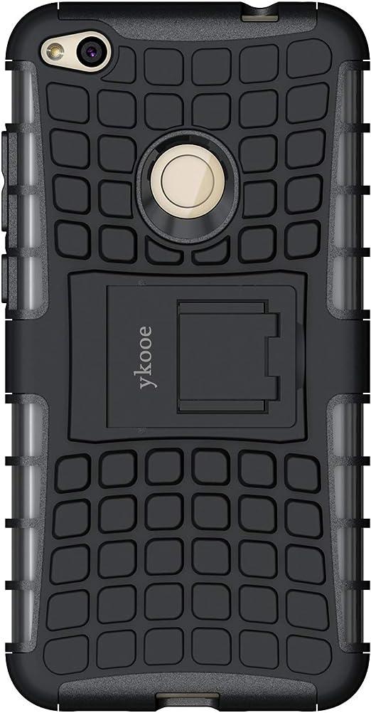 ykooe Funda Huawei P8 Lite 2017, Teléfono Híbrida de Doble Capa ...