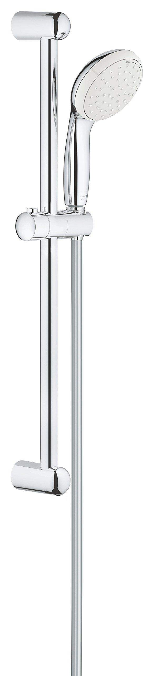 GROHE 2759810E Tempesta Classic 100 Spray Shower Rail Set, Starlight Chrome