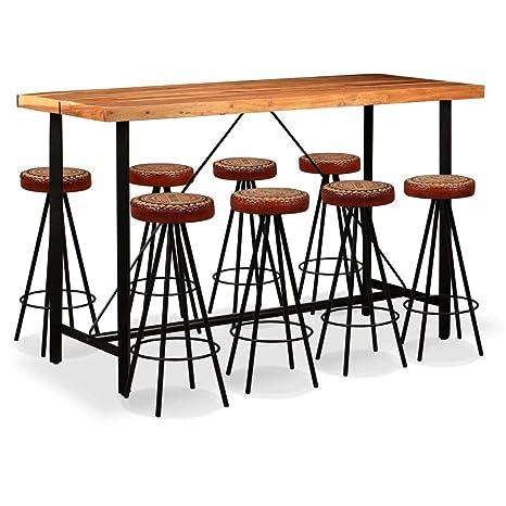 UnfadeMemory Mesa Alta y Taburetes de Bar o Restaurante,Mesa y ...