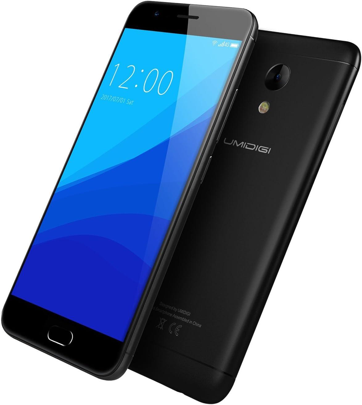 Smartphone Libre,UMIDIGI C2 telefonos moviles libres-5 Pulgadas con Pantalla HD-Procesador Octa-Core 1.5GHz MTK6750T-Dual Cámara 5MP+13MP--4GB RAM + 64GB ROM-Dual SIM 4G-4000mAh-Full Metal Design-UMI: Amazon.es: Electrónica